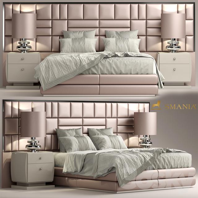 3d Models Bed Bed Smania Caesar Train