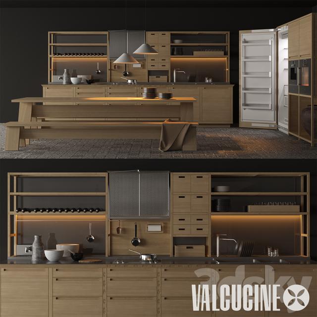 3d models: Kitchen - Valcucine - Sine tempore, gaggenau pack