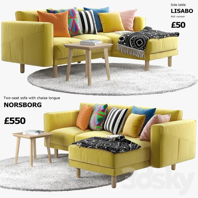 3d models Sofa Sofa Ikea Norsborg 3