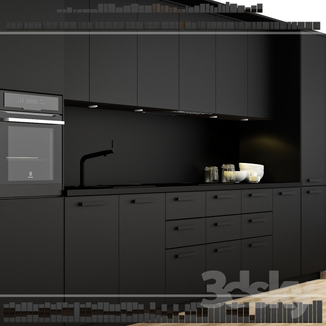 3d models kitchen ikea kitchen kungsbacka method. Black Bedroom Furniture Sets. Home Design Ideas