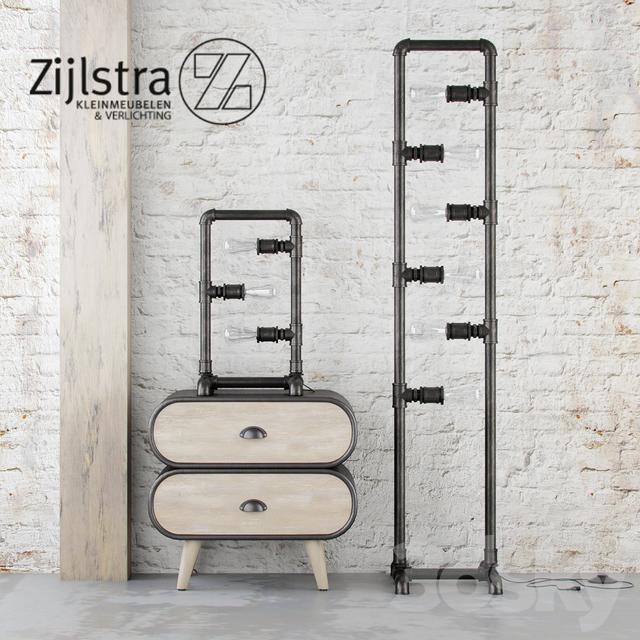 3d models: Floor lamp - Zijlstra Industrial set