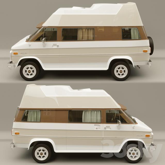 3d models transport caravan chevrolet van get away camper van. Black Bedroom Furniture Sets. Home Design Ideas