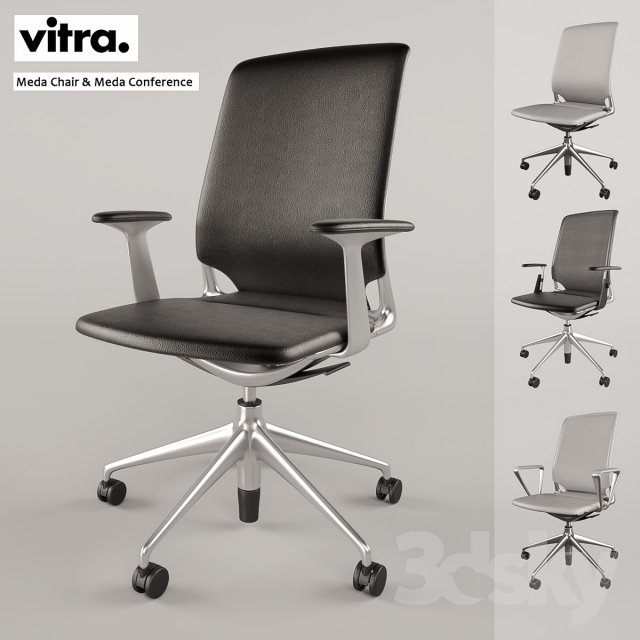 3d models office furniture vitra meda chair meda conference. Black Bedroom Furniture Sets. Home Design Ideas
