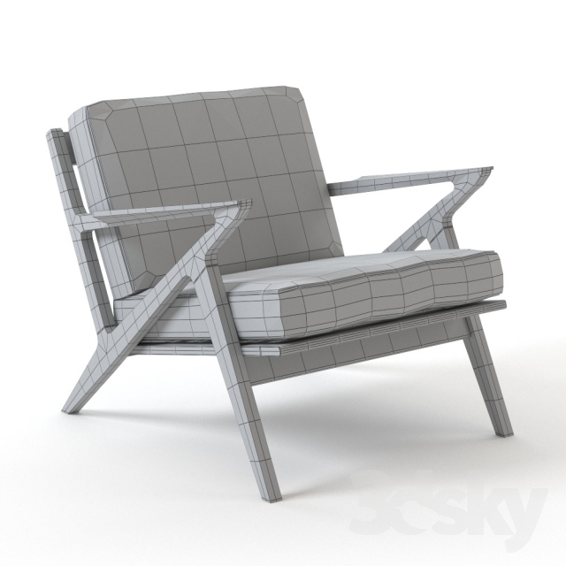 3d Models: Arm Chair   Selig Z Chair