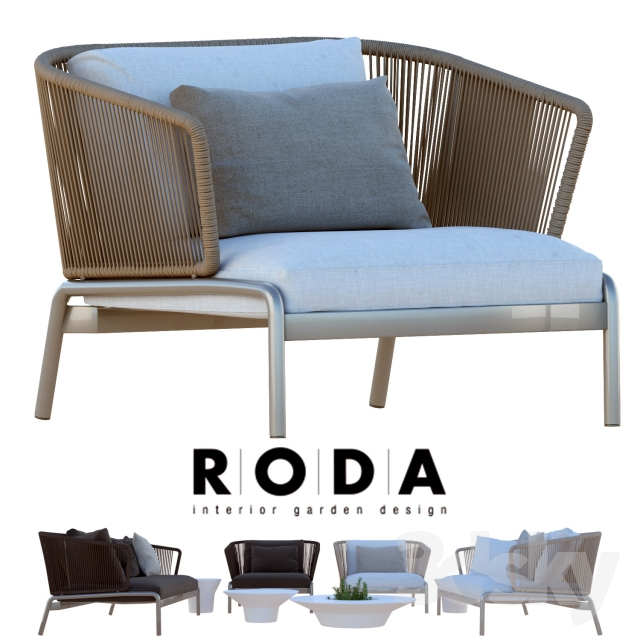 outdoor furniture roda spool sofa - Garden Furniture 3d