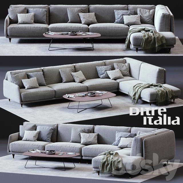 3d Models Sofa Ditre Italia Elliot Corner Sofa