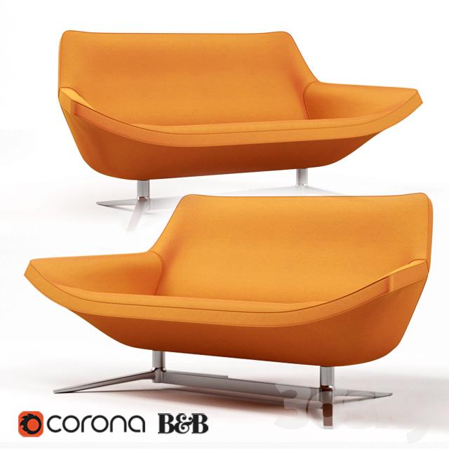 3d models sofa b b italia metropolitan14 sofa for B b sofa