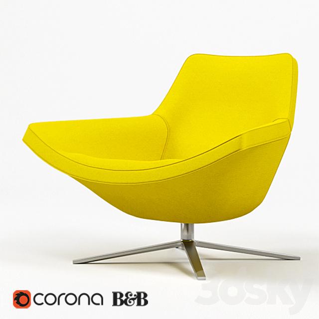 3d models arm chair b b italia metropolitan 14 chair. Black Bedroom Furniture Sets. Home Design Ideas