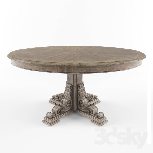 3d models Table Hooker Furniture Dining Room True  : 100211358e93f445417f from 3dsky.org size 640 x 640 jpeg 106kB