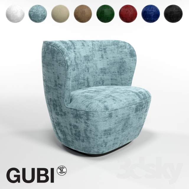 3d Models Arm Chair Gubi Stay Small Lounge Chair