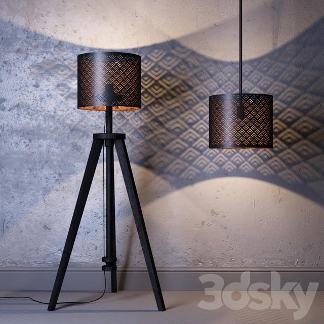 3d models floor lamp shade ikea nemo base latuers suspension second. Black Bedroom Furniture Sets. Home Design Ideas