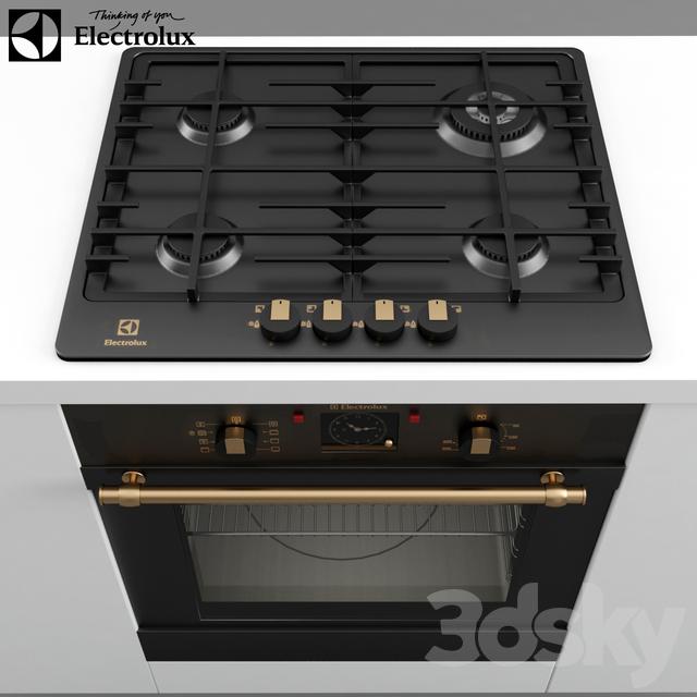 3d models kitchen appliance electrolux set eob 3400 bor for Kitchen set electrolux