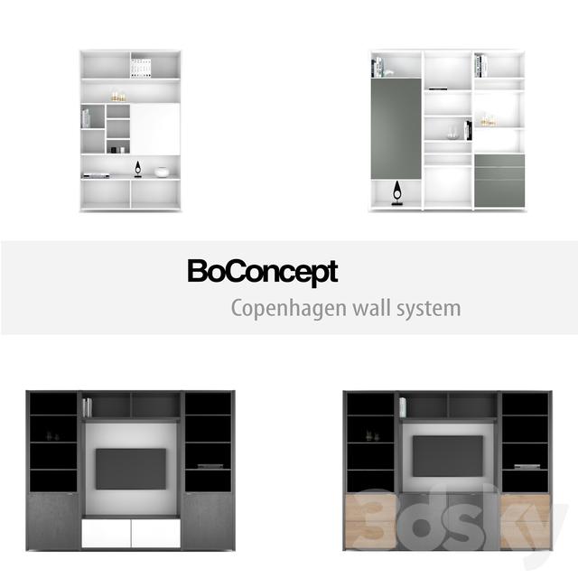 3d models other boconcept copenhagen wall system set 6. Black Bedroom Furniture Sets. Home Design Ideas