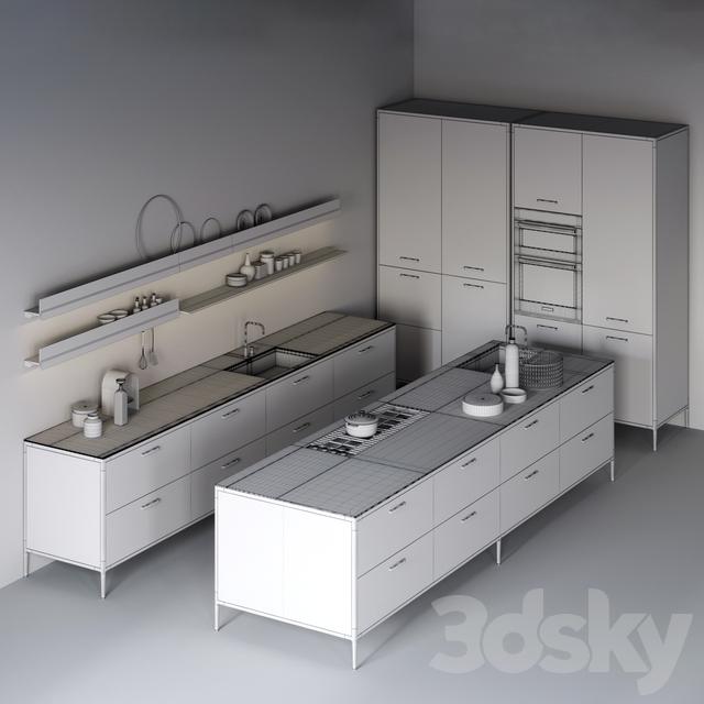 3d models: Kitchen - cesar Unit