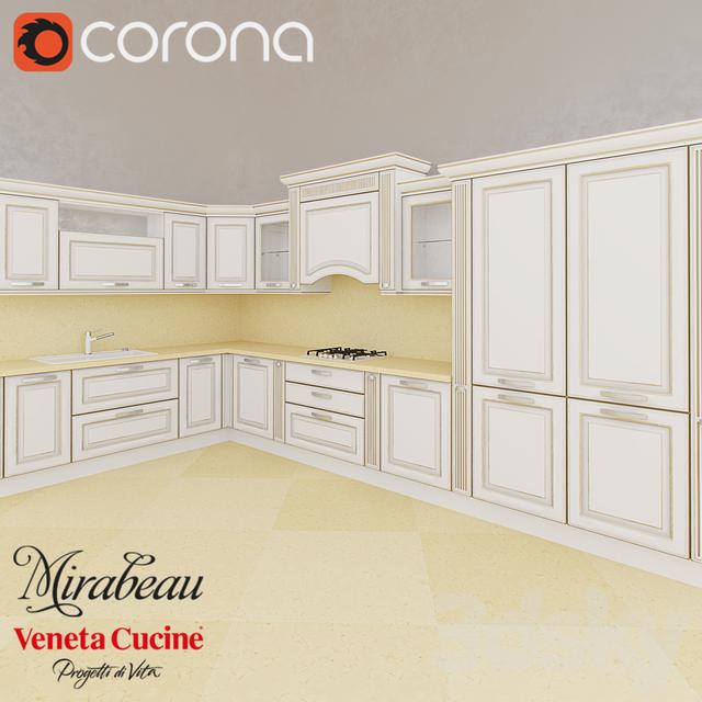 Veneta Cucine Mirabeau.3d Models Kitchen Mirabeau Veneta Cucine