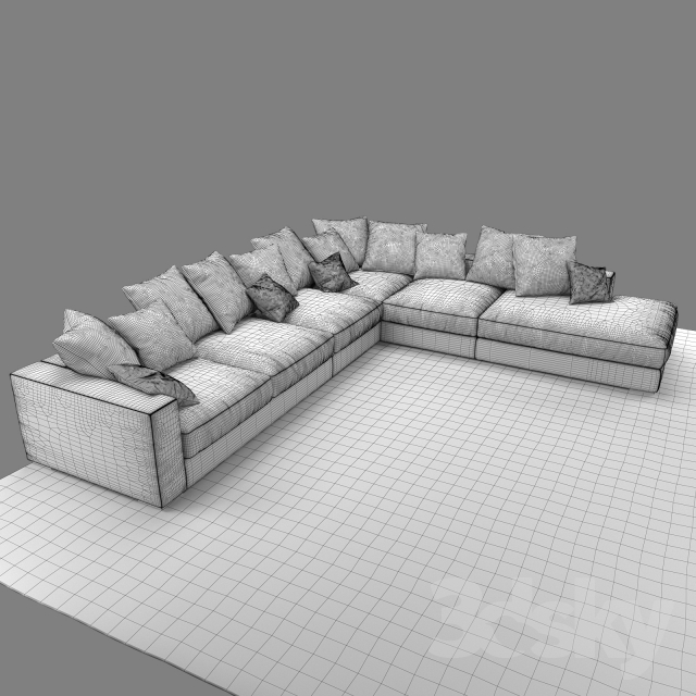 3d models sofa boconcept cenova if52. Black Bedroom Furniture Sets. Home Design Ideas