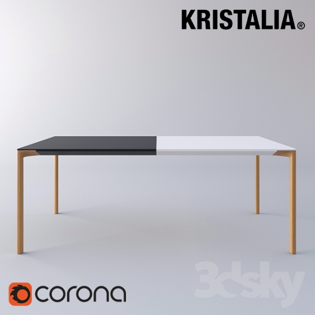 3d models table kristalia boiacca wood table for Table kristalia