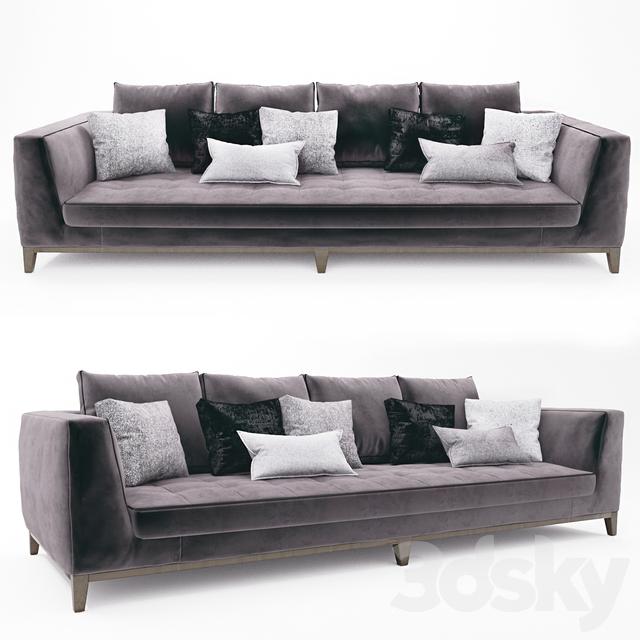 3d models sofa lutetia b b italia for B b sofa