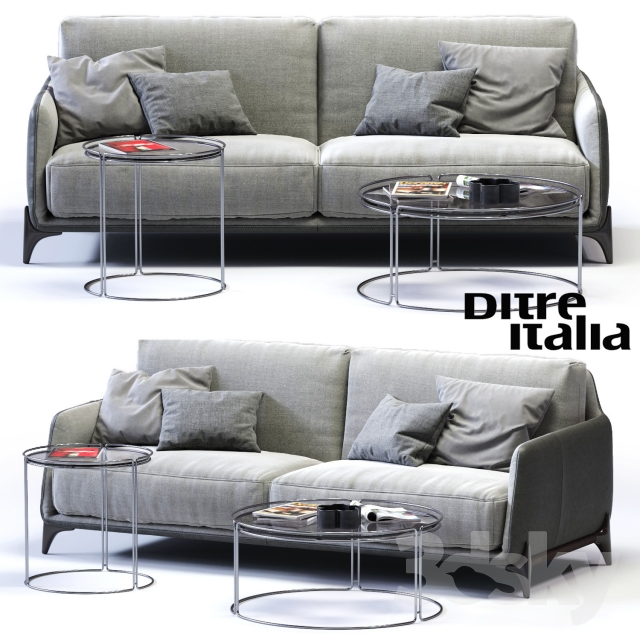 3d models sofa ditre italia elliot 3 er sofa. Black Bedroom Furniture Sets. Home Design Ideas