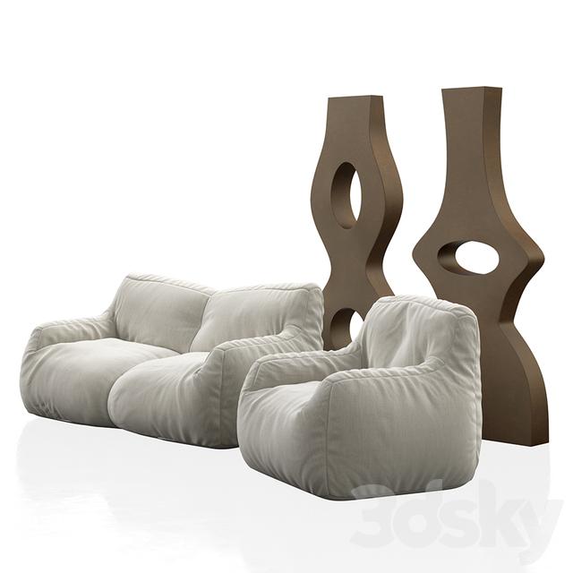 3d Models Sofa Bean Bags And Xxl Vases