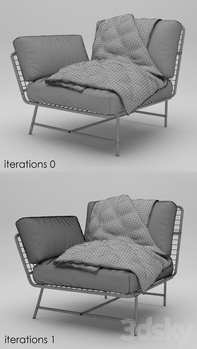 Genial IKEA PS 2017 Corner Chair. 3dsMax 2013 + Obj (Vray) ...