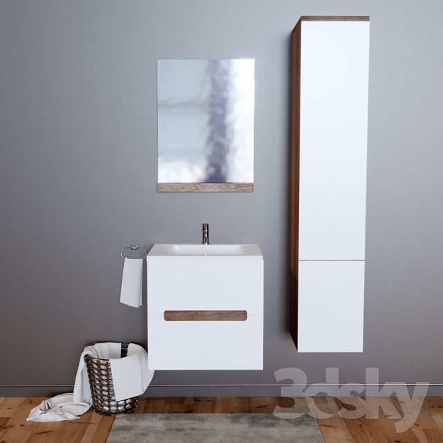 3d models bathroom furniture bathroom furniture by ravak for D furniture galleries closing