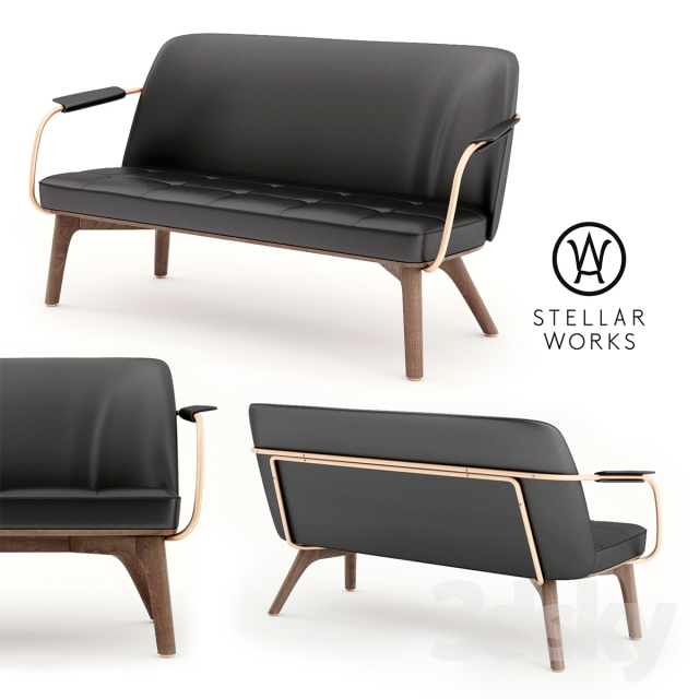 3d Models Sofa Stellarworks Utility Lounge Chair Two