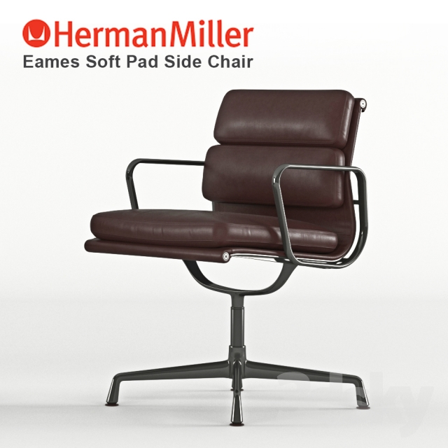 3d models chair eames soft pad side chair. Black Bedroom Furniture Sets. Home Design Ideas