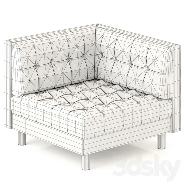 3d Models Arm Chair Bernhardt Dunhill Corner Chair