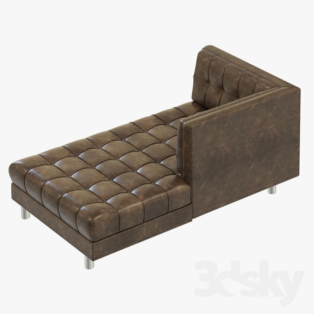 3d models sofa bernhardt dunhill right arm chaise for Bernhardt chaise