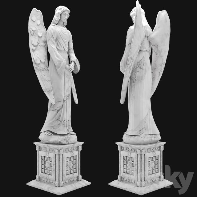 3d models: Sculpture - angel sculpture