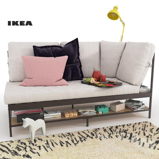 3d Models Sofa Ekebol Sofa Ikea