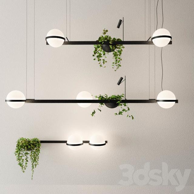 Lighting PALMA Vibia & 3d models: Ceiling light - Lighting PALMA Vibia