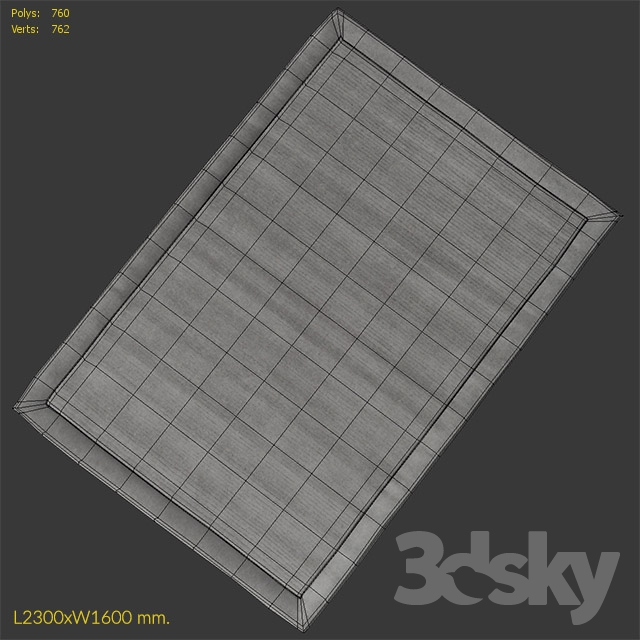 3d models: Carpets - Carpet Benuta Uni Wool Gray Rug