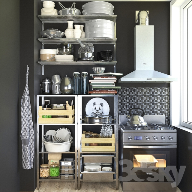 3d models other kitchen accessories kitchen set 2 for Kitchen set 3 meter