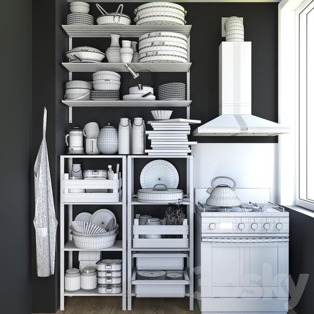 3d Models Other Kitchen Accessories Kitchen Set 2