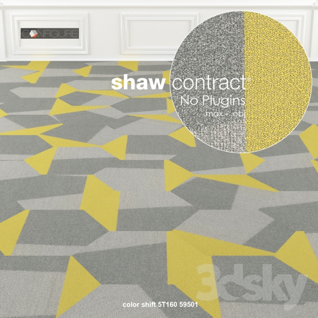 3d Models Carpets Shaw Carpet Configure Contact Hexagon No 1