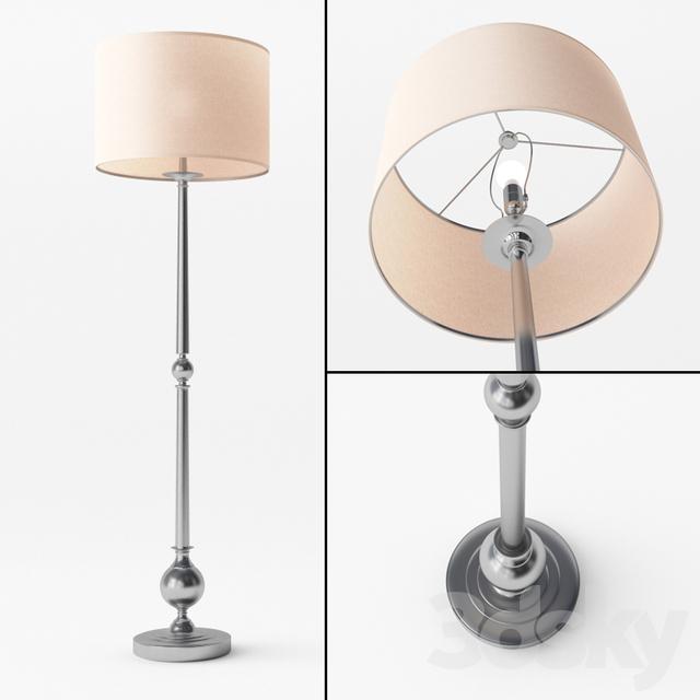 3d Models Floor Lamp Gillian Candlestick Floor Lamp Base
