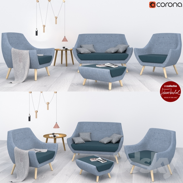3d Models Other Poet Sofa Pelican Table And Poet