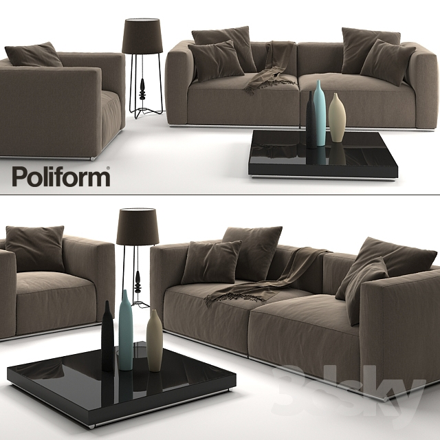 Sofa and armchair Poliform Shangai