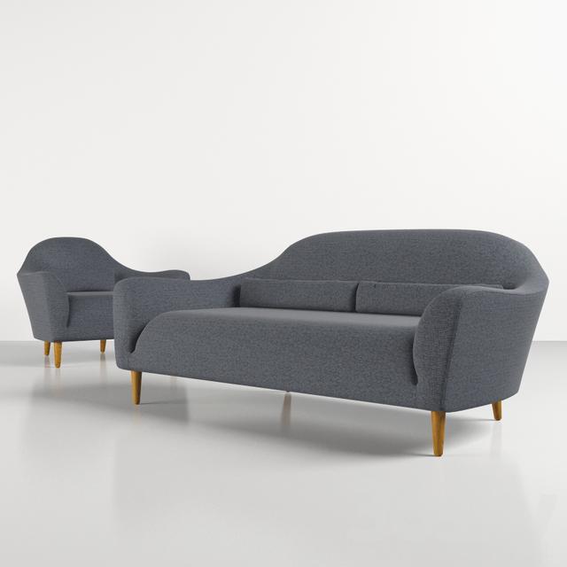 3d Models Sofa Crate Amp Barrel Pennie Sofa And Chair