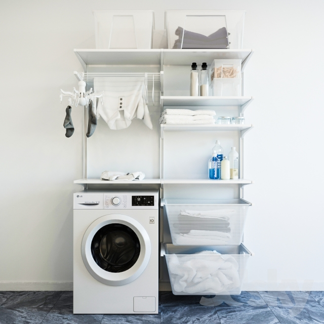 IKEA wall module Algot 8 / washing machine