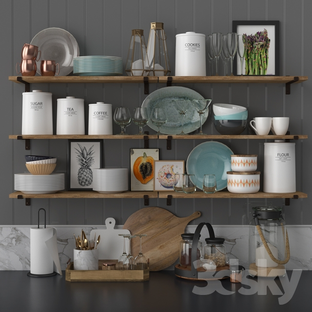 Kitchen Decor Accessories: 3d Models: Other Kitchen Accessories