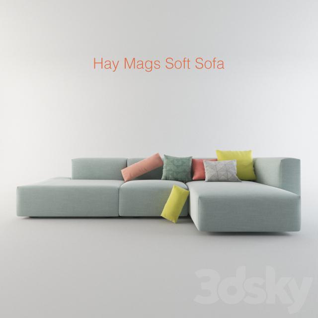 3d Models: Sofa   Hay Mags Soft Sofa
