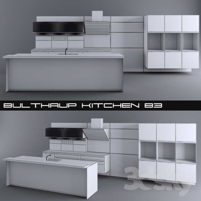 3d Models Kitchen Kitchen Bulthaup B3