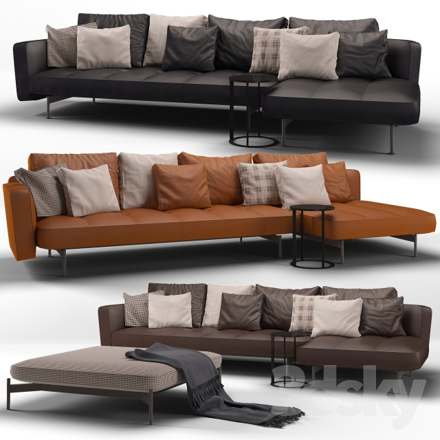 3d models sofa b b italia sak sofa 01. Black Bedroom Furniture Sets. Home Design Ideas