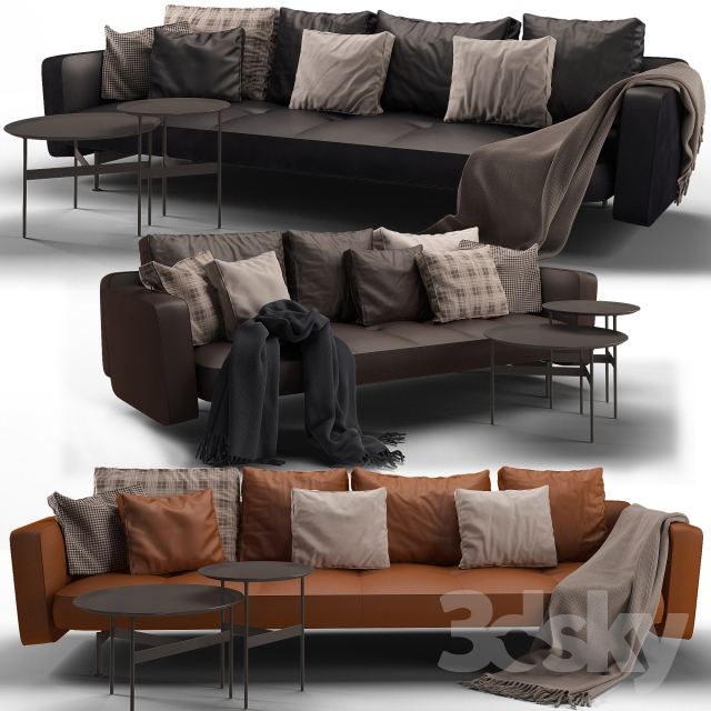 3d models sofa b b italia sak sofa 02. Black Bedroom Furniture Sets. Home Design Ideas
