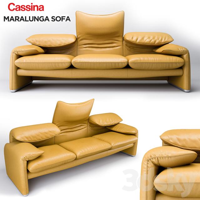 3d models sofa cassina maralunga. Black Bedroom Furniture Sets. Home Design Ideas