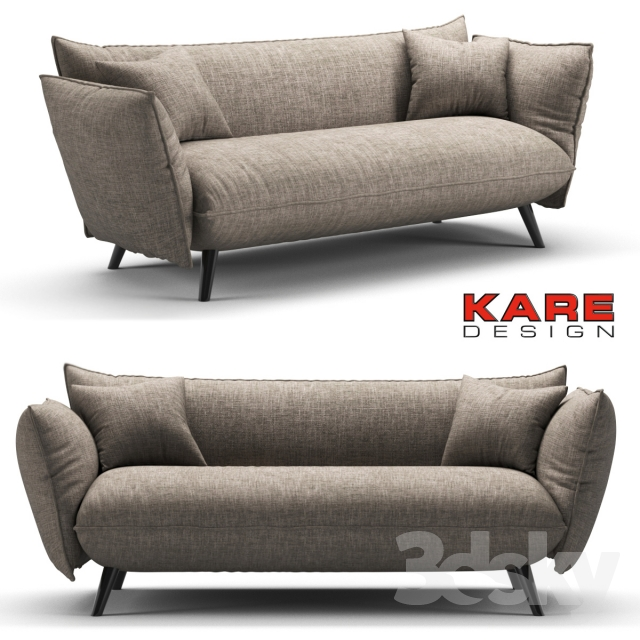 3d models sofa kare sofa molly cliff 3 seater. Black Bedroom Furniture Sets. Home Design Ideas
