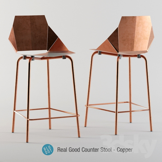 3d Models Chair Blu Dot Real Good Copper Stool